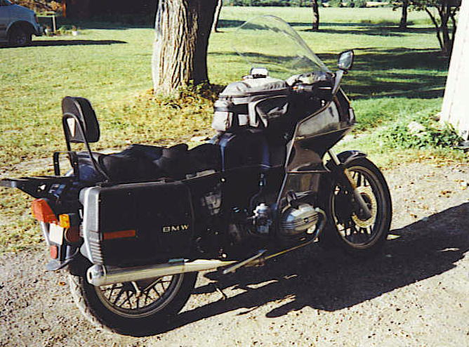 It's a 1983 BMW R80RT. It's got just over 100000 miles on it (just getting